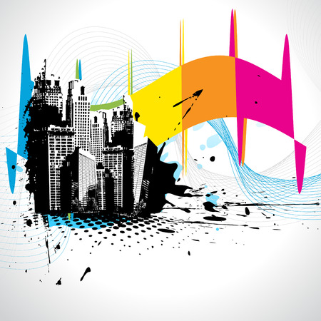 movement:   abstract building design illustration