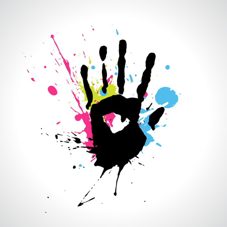 abstract grungy hand illustration Vector