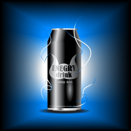 can of energy drink Stock Vector - 7782432