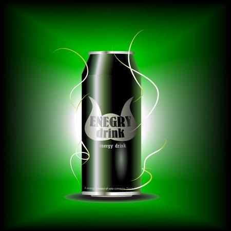 cerveza negra: lata de bebida energética  Vectores