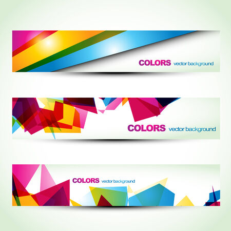 color effect: abstract colorful banner set designs. Eps10 vector Illustration