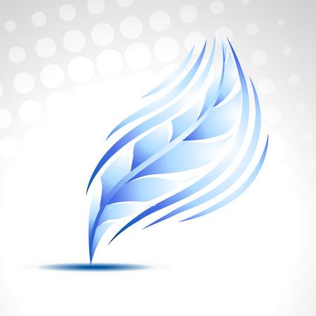 vector blue feather illustration art Stock Vector - 8004975