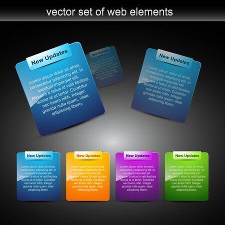 website elements design elements label Stock Vector - 8096567