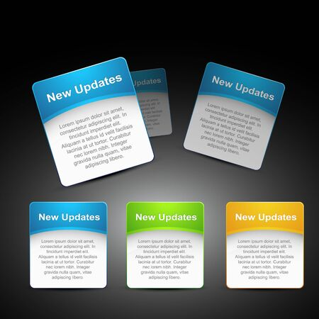 text box: web element in three different color Illustration