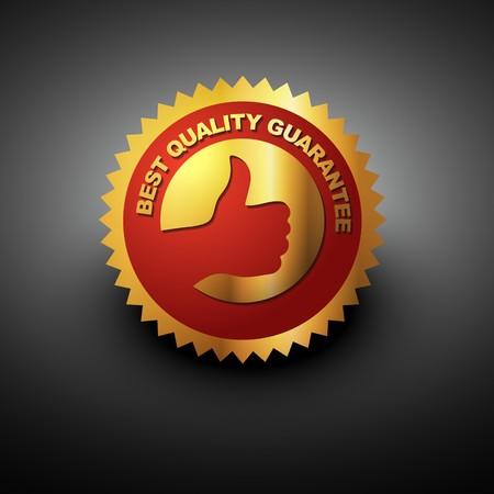 best quality label in golden color Vector
