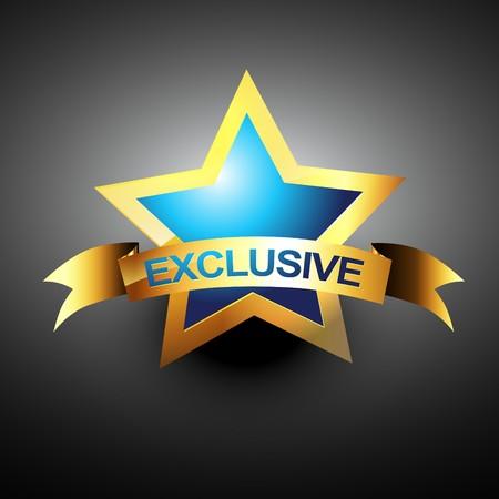 exclusive golden design icon Vector