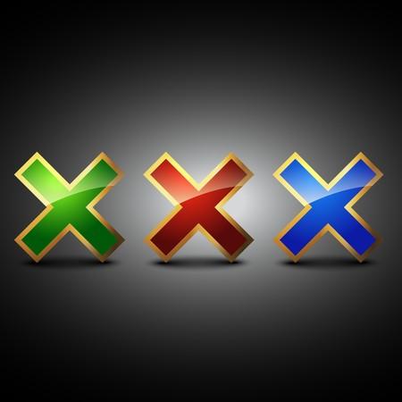 cross symbol shape illustration Vector