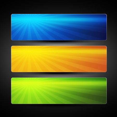 graphic design background: set of three colorful banners background