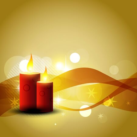 vector candle background design illustration Stock Vector - 8292198
