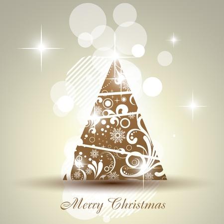 artistic christmas tree design Vector