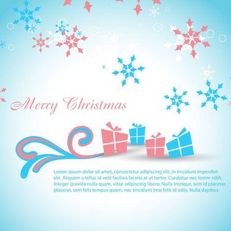 kiddish: Gift box. Christmas theme design artwork