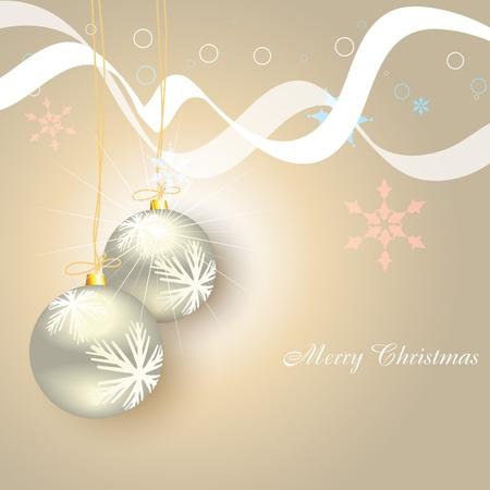 christmas balls on artistic background Vector