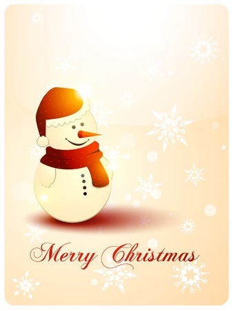 snowman illustration. Christmas background Vector
