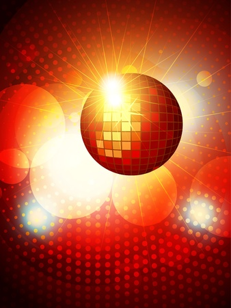 abstract party disco background design Vector