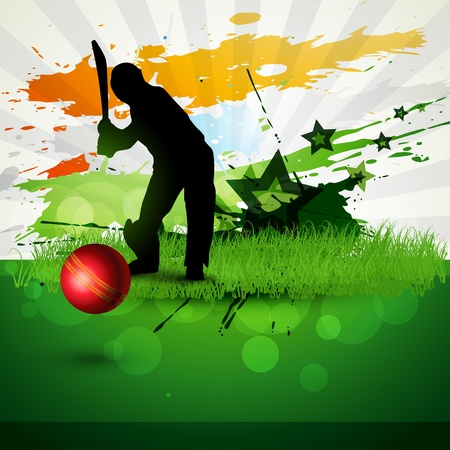 abstract cricket background game artwork Stock Vector - 8949603