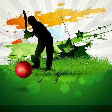 cricket: opera gioco di sfondo astratta cricket Vettoriali