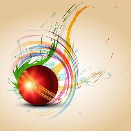 cricket: palla di cricket grungy sfondo