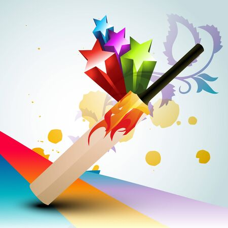 abstract cricket bat design Vector