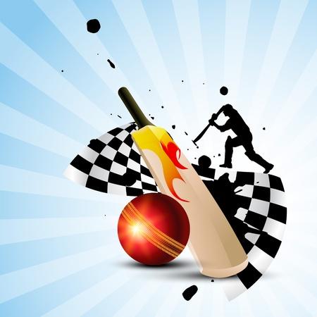 cricket theme background design Vector