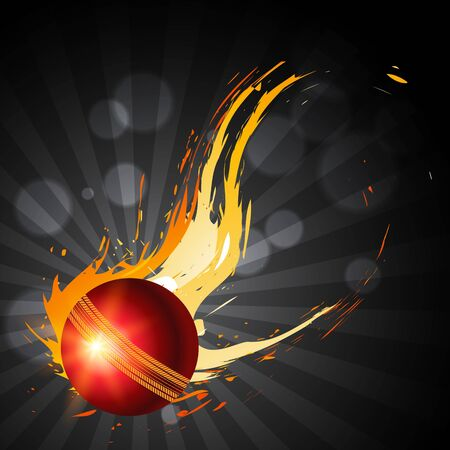 abstract cricket ball artistic background Vector