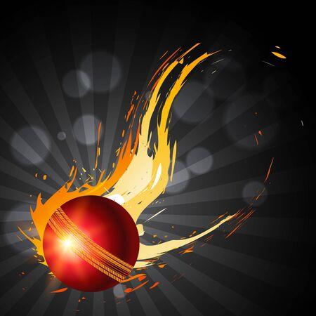 cricket: sfondo artistico di palla astratta cricket