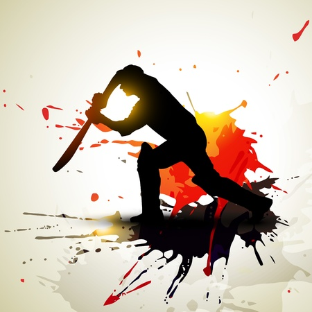 abstract cricket background grunge artwork Stock Vector - 8949572