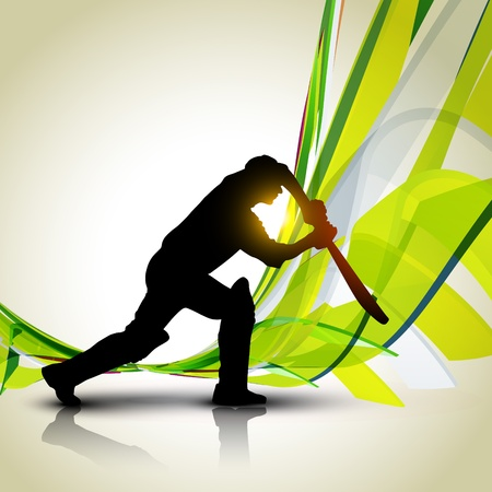 buiten sporten: mooie cricket achtergrond ontwerp artwork
