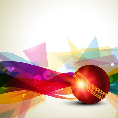 cricket: cricket ball colorful background design