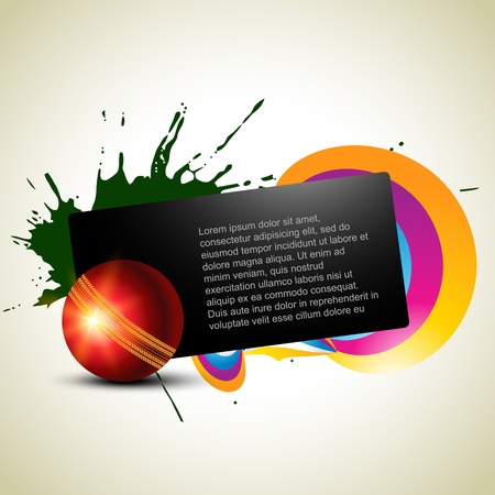 cricket: abstract cricket ball artistic background