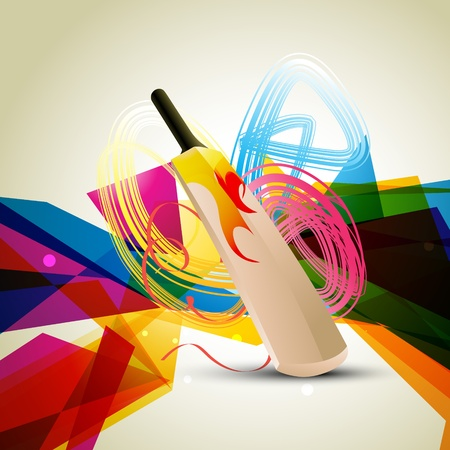 colorful abstract cricket background design Illustration