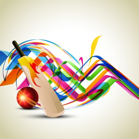 colorful cricket background design art Vector