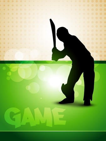 stylish cricket game background design Vector
