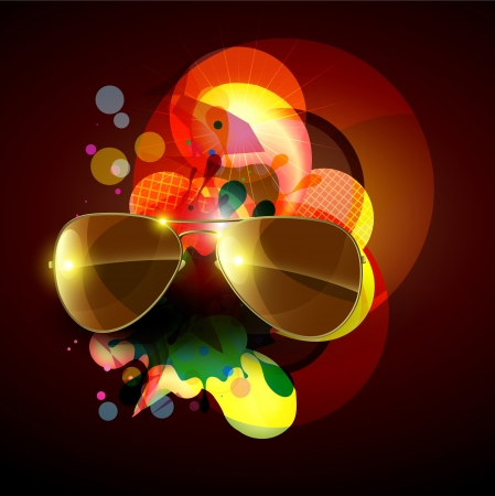 stylish abstract background with sunglasses Vector