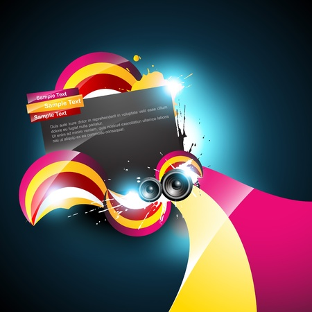 shiny music background design Vector