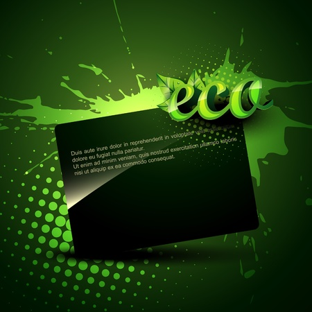 graphics card: green eco background with space for your text