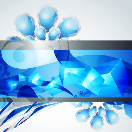stylish blue color Stock Vector - 9090668