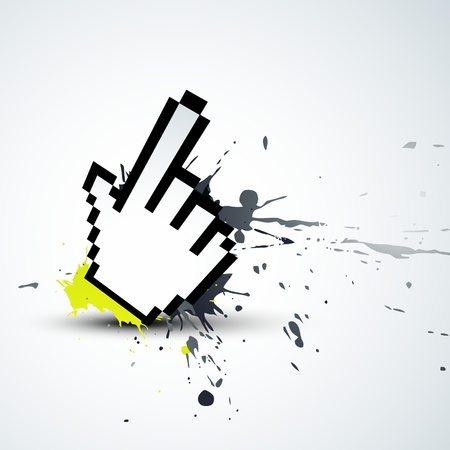 abstract hand mouse ponter Vector