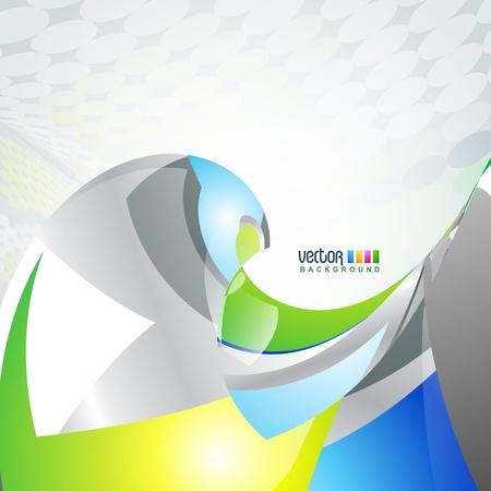 beautiful stylish wave background Stock Vector - 9090660