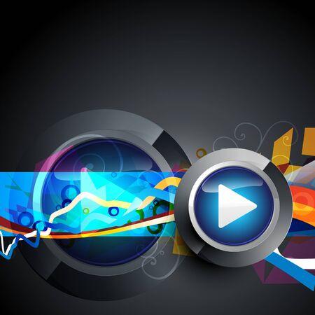 abstract music: vector abstracte muziek play-knop kunstwerk