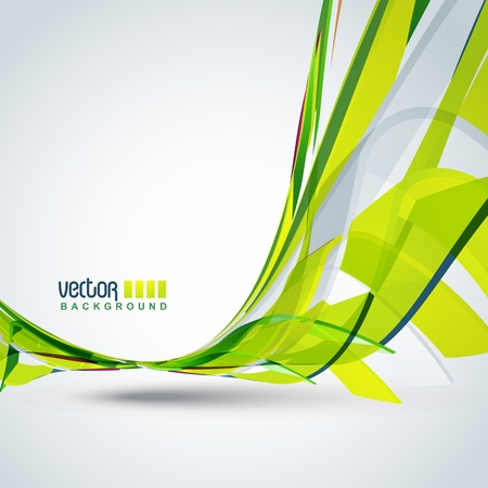 green  wave: beautiful vector green color wave background Illustration