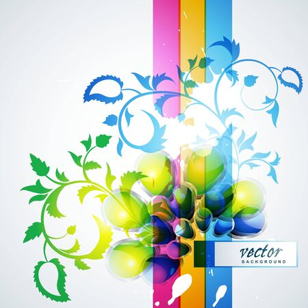 abstract colorful background design art Stock Vector - 10081274
