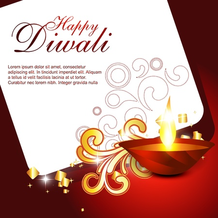 beautiful artistic hindu diwali festival design Vector