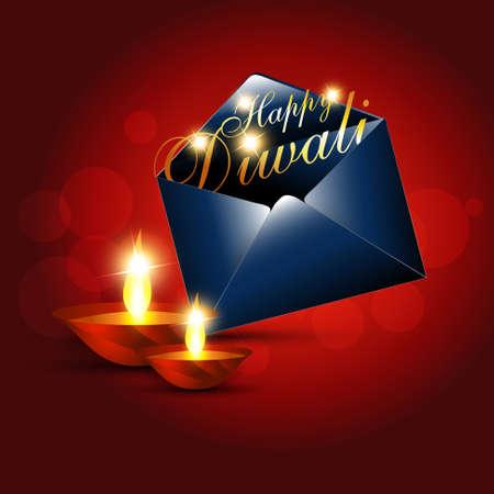 beautiful diwali festival greeting vector design Stock Vector - 11004490