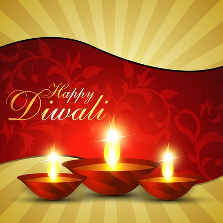 beautful diwali hindu festival background Stock Vector - 11004414