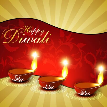 beautiful diwali background design art Vector