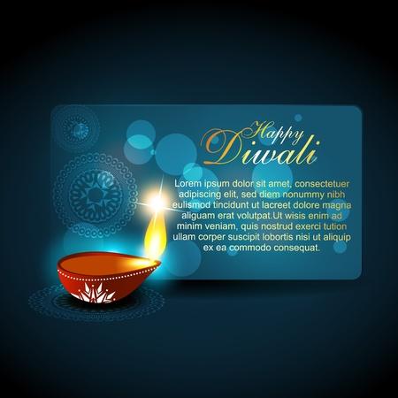 beautful diwali hindu festival background Vector