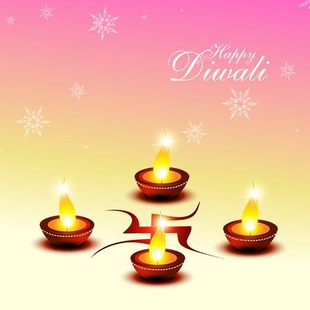 beautiful diwali hindu festival background  Vector