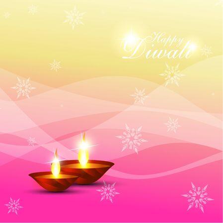 beautiful diwali diya on artistic background Stock Vector - 11004489