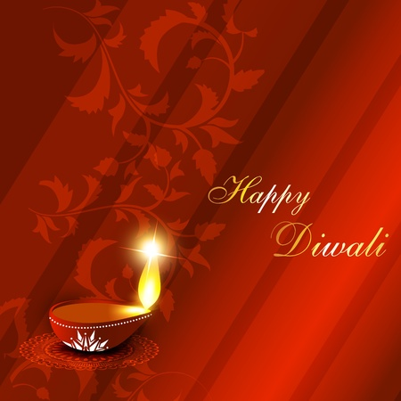vector diwali festival background Vector