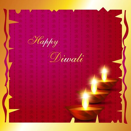 Indian diwali festival background with space for your text Vector